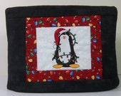 2 Slice Toaster Cover - Christmas Penquin