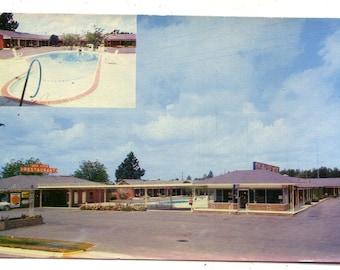 SYL-VA-LANE Motel and Restaurant Postcard chrome Route 301 Sylvania Georgia