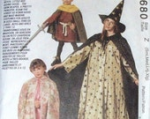 McCalls 6680 Robin Hood Halloween Costumes Magician Wizard Witch Princess Pattern Adult Size S-M-L-XL