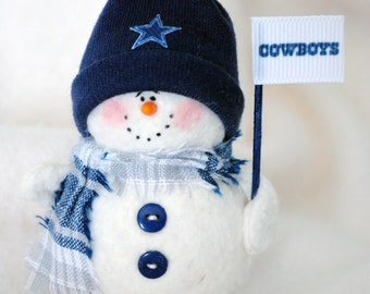 Dallas Cowboys Snowman Ornament