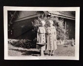 Original Antique Photograph Martha & Marrha 1958