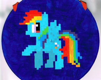 Rainbow Dash My Little Pony Pixel 8-Bit Painting
