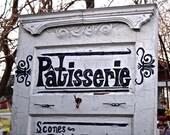 Leaner Door, White Coat Rack, French Bakery, Patisserie Advertising, Furniture, Door Organizer, Rustic French Decor, Repurposed RecycledDoor