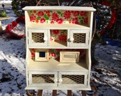 Furniture, Small Hutch, Curio Cabinet, Knick Knack Cabinet, Rustic Shelves, Chicken Coup Wire, Decoupage Cabinet, Farmhouse Powder Room