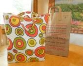 Reusable Shopping Bag, sturdy cotton  fabric,  recycle fabric bag, grocery bag, market bag