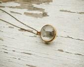 SALE as you wish - golden dandelion globe necklace