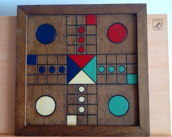Antique Wooden Folk Art Game Board, Best Old Paint