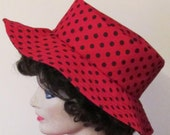 Red and Black Polka Dot Sun Hat