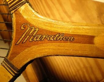 Antique Tennis Racket By Marathon