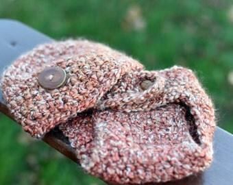 Crochet Soft Brown Newborn Diaper Cover