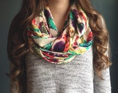 Infinity Scarf: Feathers Jersey