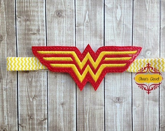 Wonder Woman Headband Shimmery shiny Logo Headband Super!