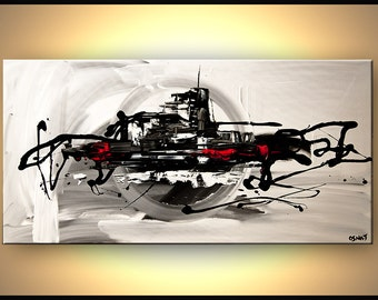 """Modern Art Poster on Photographic Paper - The Bridge - 48""""x24"""" - Art by Osnat"""
