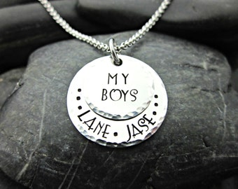 My Boys - Stacked Mother's Necklace