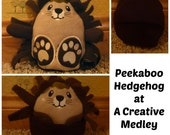 Peekaboo Hedgehog In the Hoop Stuffed Softie - Reversible folds into an egg, ITH, IN The Hoop, Embroidery Design, Instant download