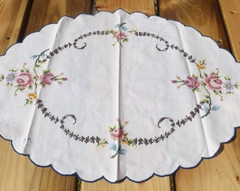 Cute little vintage cross stitch doily
