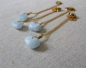 Aquamarine Necklace, Gemstone Necklace, Pendant Necklace, Minimalist Necklace