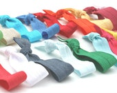 Hair Tie Bracelets (30) Knotted Ribbon Hair Bands - Emi Jay Inspired Elastic Hair Ties - Girls, Women's Hair Accessories - Gift For Her