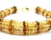 Tan Herringbone Bracelet