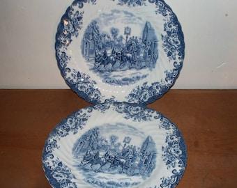 Johnson Brothers Set of 2 Stoke-on-Trent England Ironstone Dinner Plates Vintage