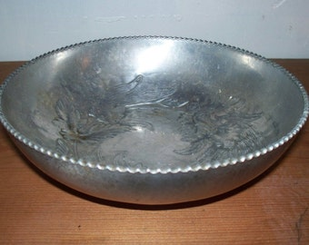 Chadwell Silver Co Hand Wrought Aluminum Bowl Vintage