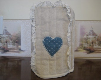 Can Opener cover Country Blue Heart design