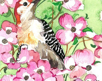 ACEO Limited Edition 1/25- Spring woodpecker