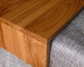 Ottoman Wrap Tray - reclaimed wood drink rest table for couch sofa or ottoman