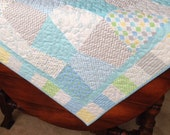 Pre-Cut Baby Tumber Quilt Kit  - Pastel aqua, blues and grey