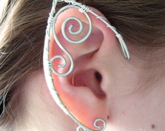 Custom Order Set of Elf Style Ear Cuffs, Ear Wraps, Made to Order Renaissance, Elven, Hobbit, Elf, Fantasy Ear Wraps,
