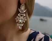 SALE Marylin - Divine Swarovski Crystal Wedding Earrings, Statement Earrings - Ready to Ship