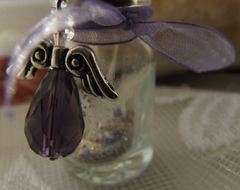 Miniature Bottle necklace - Angel's Message in A Bottle