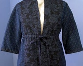 Kasuri Tie Front Shirt Jacket. Women's Size Small/Medium.
