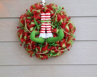 Christmas Wreath - Elf Wreath - Customize Your Colors
