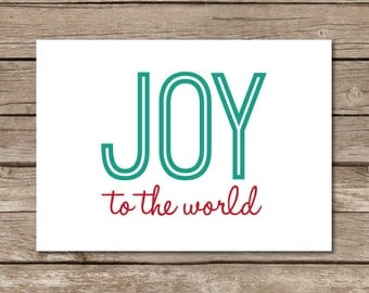 Joy to the World 5x7 Print - Instant Download