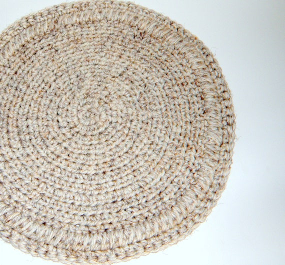 Plush Cat Mat Crochet Round Rag Rug Thick By