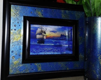 Conquest Royale Hand Painted Framed  Art