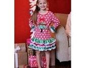 Girls Christmas outfit, Christmas Snowflake Print , Christmas Dress, Holiday dress, Baby Christmas Dress, Baby's first Christmas