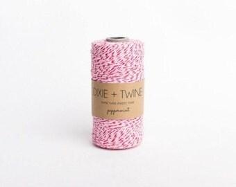 SALE 25 Yards Peppermint Divine Twine Baker's Twine
