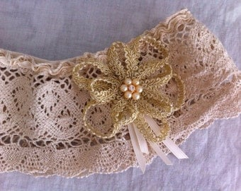 Shabby Chic Bridal Garter/Wedding Garter