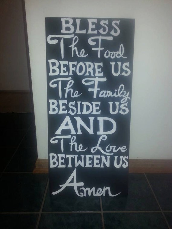 Bless the Food... wood sign