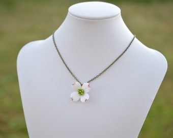 Dogwood Necklace, Spring Flower Necklace, Dogwood Flower Necklace, Dogwood Bridesmaid Necklace, Flower Necklace