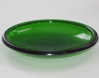 Round Green Glass from Traffic Light