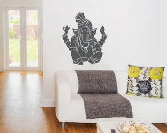 Ganesha Wall Decal - Ganesha Decal, Ganesha Sticker, Hindu God Decal, Ganesh Decal, Lord Of Success, Spiritual Wall Decal, Religious Sticker