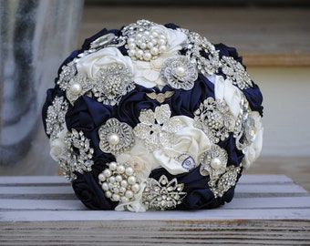 Satin Flower Brooch Bouquet
