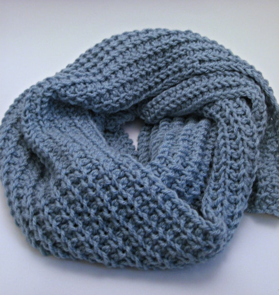 Knitting Pattern Ribbed Scarf : Glacier Loose Knit Scarf Pattern Ribbed Scarf Pattern Winter