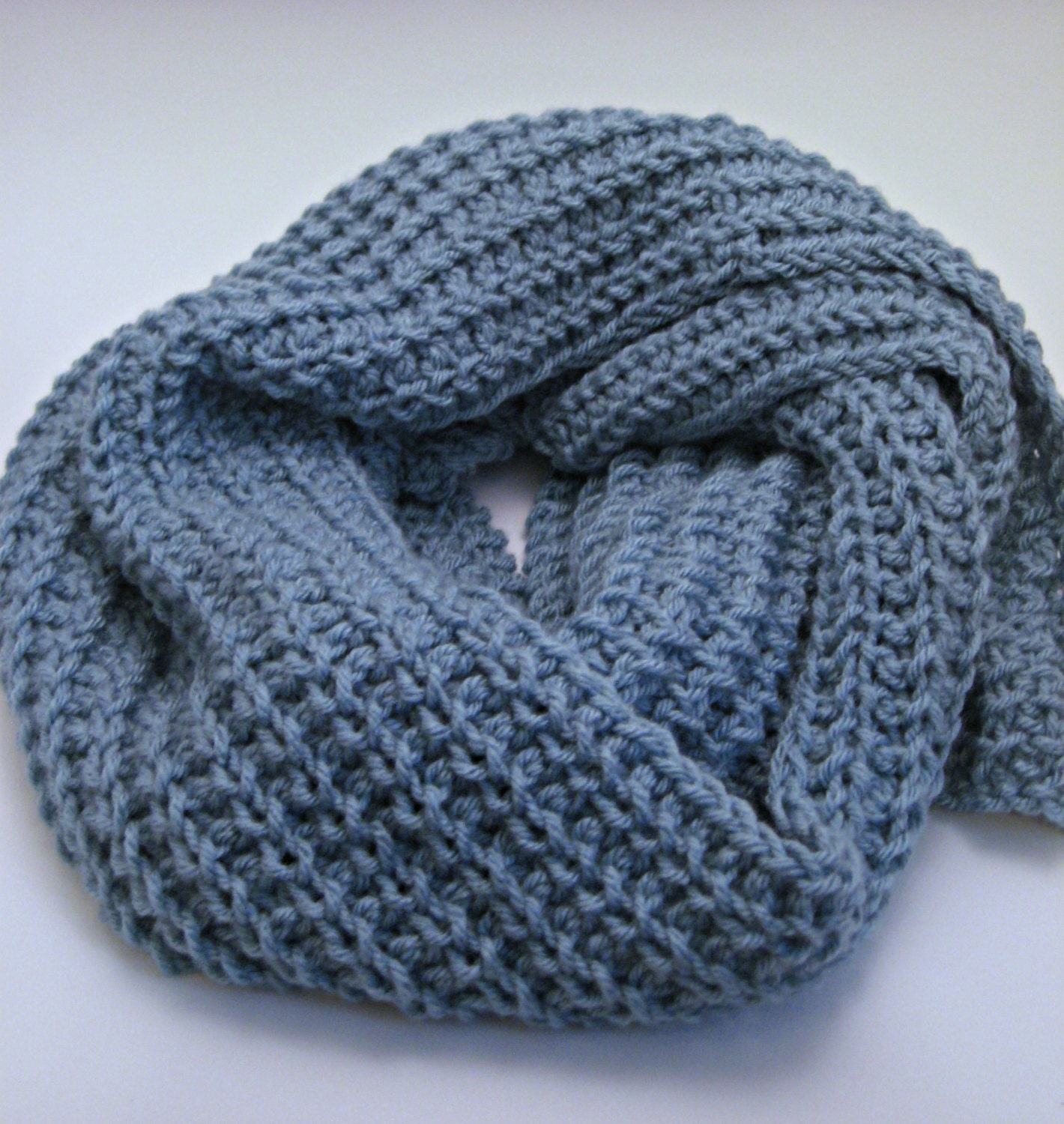 Knitting Rib Stitch Scarf : Glacier Loose Knit Scarf Pattern Ribbed Scarf Pattern Winter