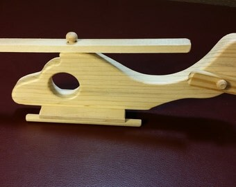 Wooden Toy Helicopter,