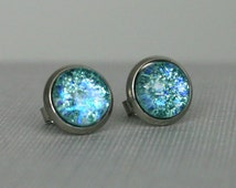 Glacier - Blue - Color Shifting - Surgical Steel Stud Earrings
