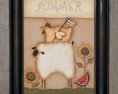 Primitive Handpainted 5 x 7 Canvas-Summer Decor